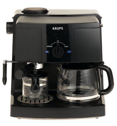 Krups Xp1500 Coffee Maker And Espresso Machine Combination Black Http Www Freeshippingco Coffee And Espresso Maker Coffee Maker Machine Krups Coffee Maker