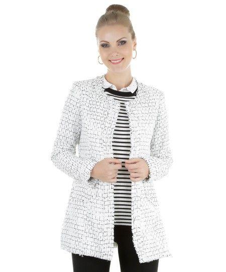 Casaco Texturizado Branco - cea