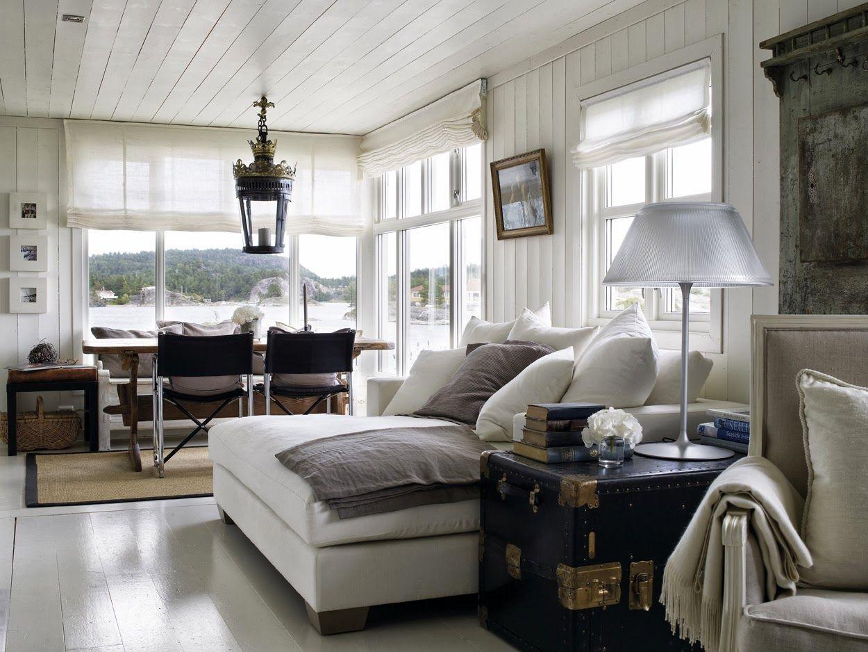 Lake house living room decor - Norwegian Home Decor Norwegian Home Interiors Norwegian Summer Home With Lake Housesbeach