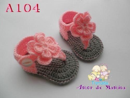 En Tejidas CrochetCosas BebeSandalias Maria Nieves De Para Pin PXiukZ