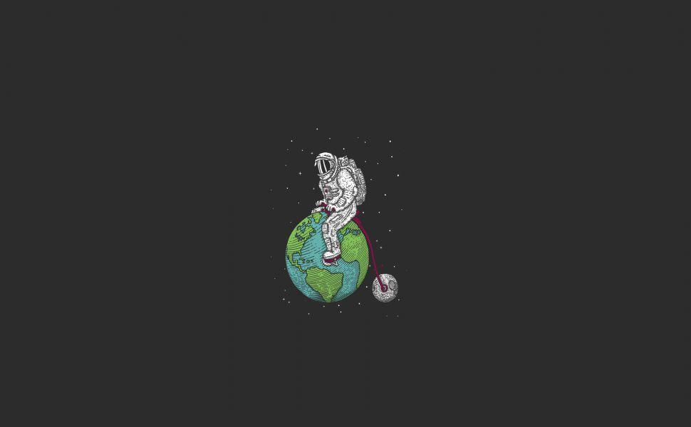 Astronaut Hd Wallpaper Gambar