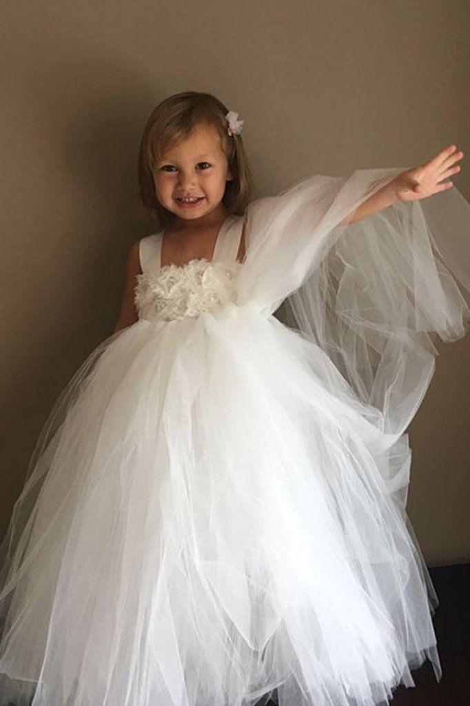 898f46ea045b Ivory Flower Girl Tutu Dress-with matching headpiece-Satin Straps-Wedding  Dress Pageant Dress Toddler Dress Tulle Dress