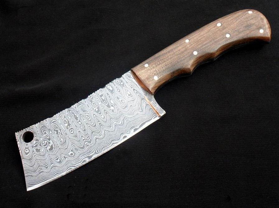 Handmade Full Tang Damascus 11 Quot Meat Cleaver With Walnut
