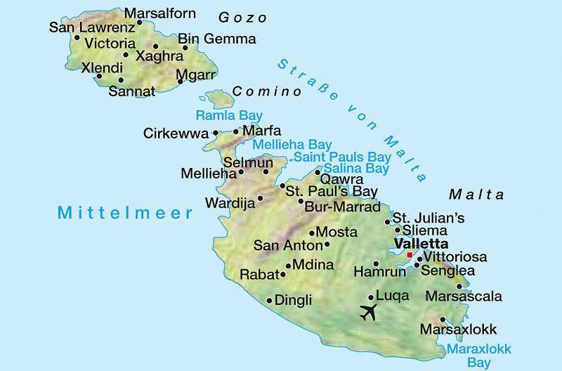 malta map malta map pinterest reisen urlaub und kurzurlaub. Black Bedroom Furniture Sets. Home Design Ideas