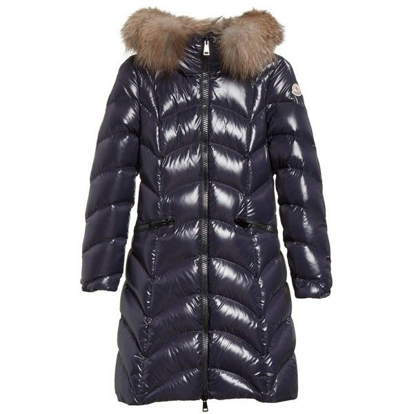 Women's Moncler Albizia Down Puffer Coat With Genuine Fox Fur Trim ($2,050) ❤ liked