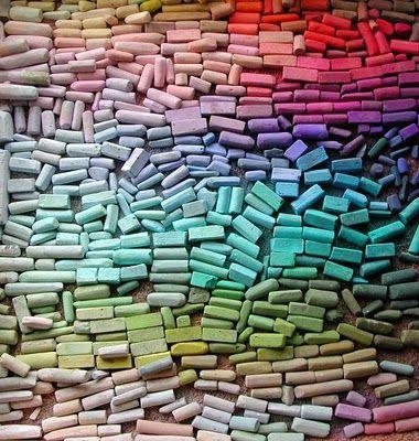 Chalk mosaic.