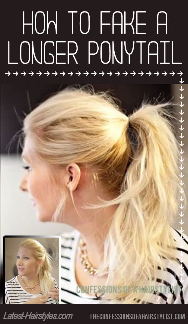 How To Make Your Ponytail Look Longer Than It Actually Is Hair