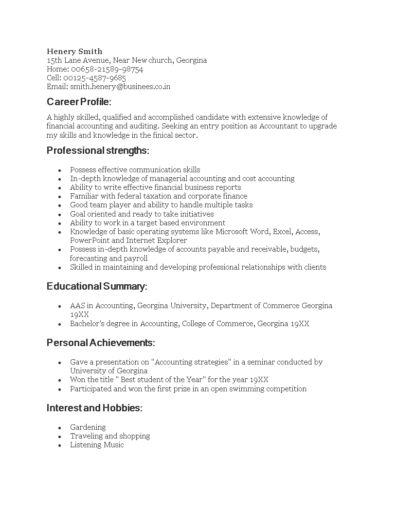 Resume Sample For Fresh Graduate Accounting How To Create A Resume Sample For Fresh Graduate Accounting Download This Fres Resume Accounting Create A Resume