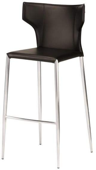 Prime Nuevoliving Wayne Counter Stool With Silver Legs Comfort Machost Co Dining Chair Design Ideas Machostcouk