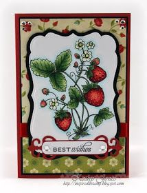 Inspired to Stamp: Sweet Strawberries