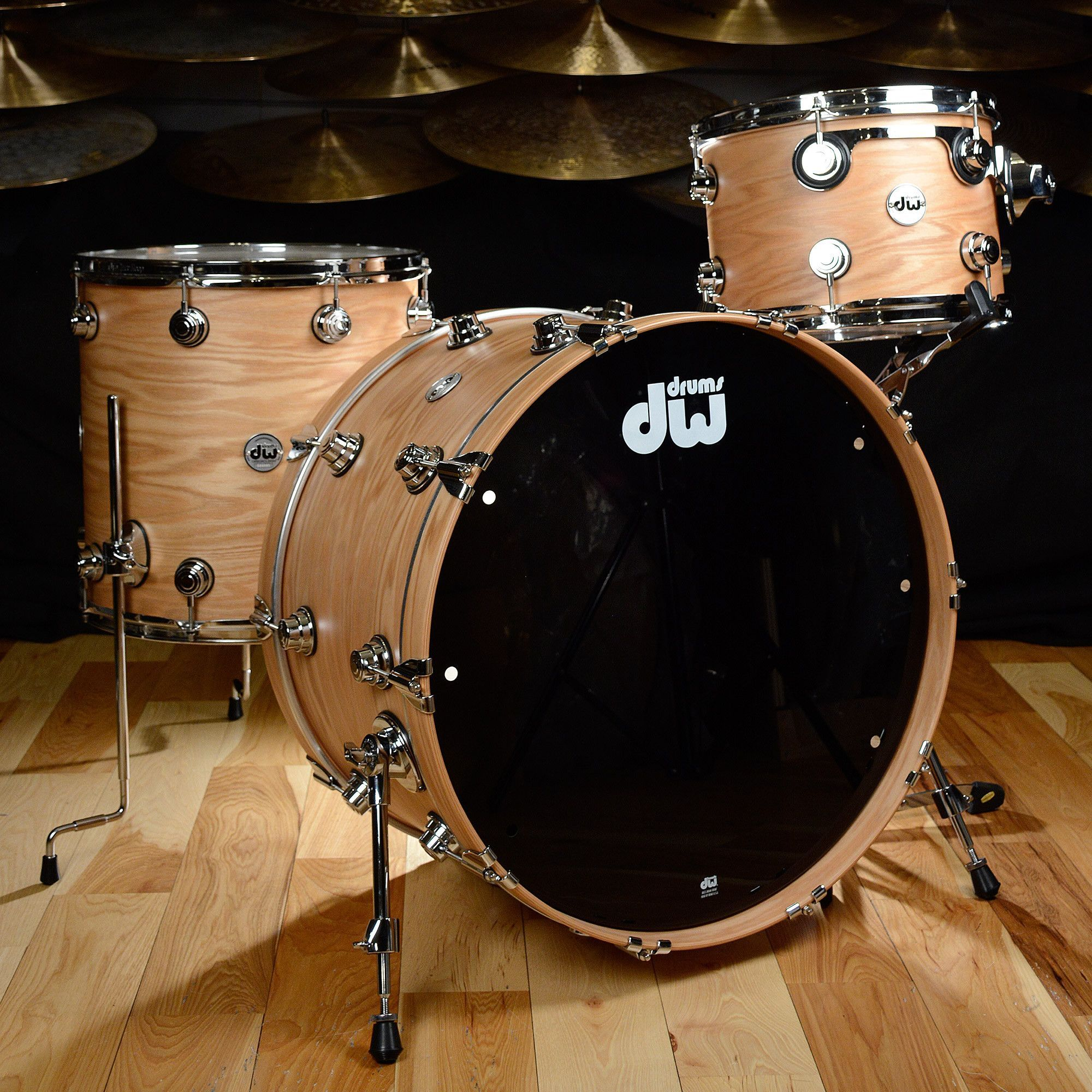 Dw Pure Oak Series 3 Piece Kit In The Natural Hard Satin