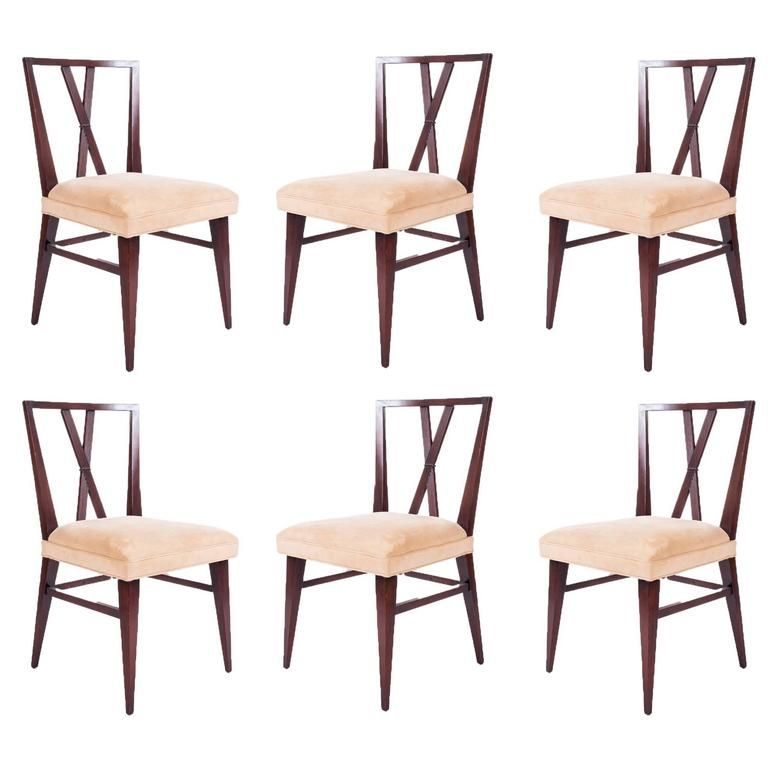 set of six dining chairs by tommi parzinger for charak modern from a unique collection - Set Of Six Dining Room Chairs