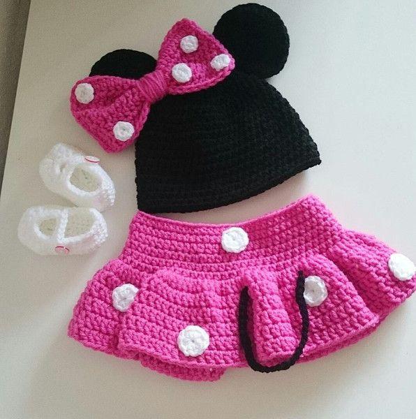 Minnie Maus ✭ Kostüm für Neugeborene✭ Fotoshooting von ...