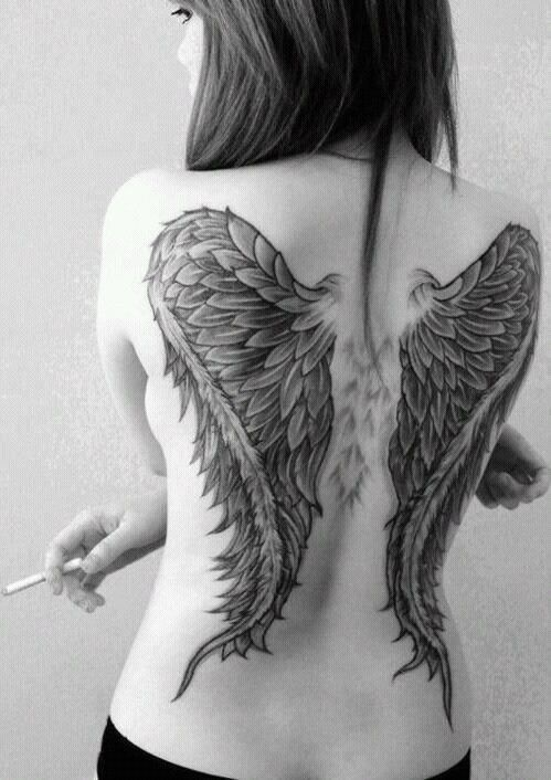 Girl Wings Tattoo Tattoo Sleeves Pinterest Tatouage Tatouage