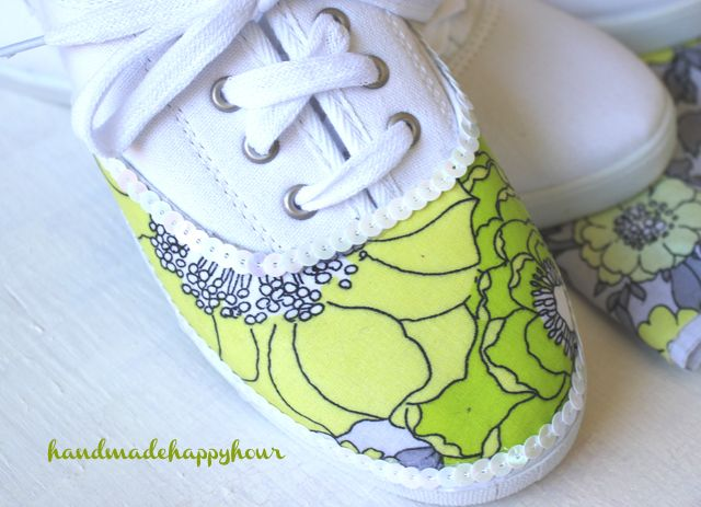 DIY Fabric Covered Sneakers with Mod