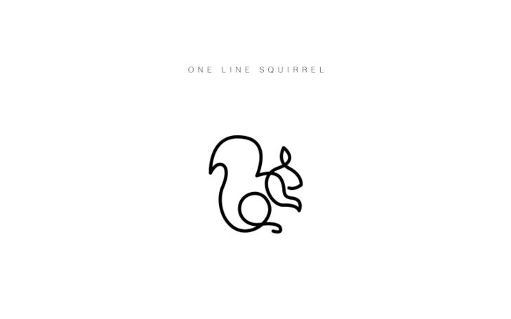 One Line Animals One Line Animals Squirrel Tattoo Minimalist Animal