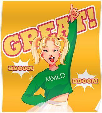 Bboom Bboom Poster By Lowiy In 2021 Kpop Drawings Fan Art Kpop Fanart