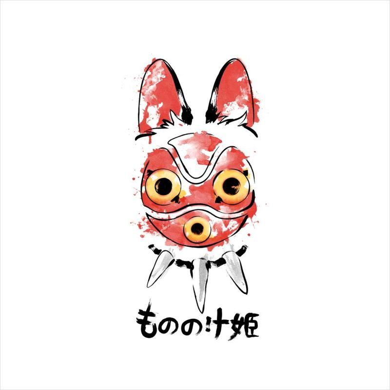 Wolf Girl Mask Princess Mononoke Princess Mononoke Art Princess Mononoke Tattoo Ghibli Tattoo