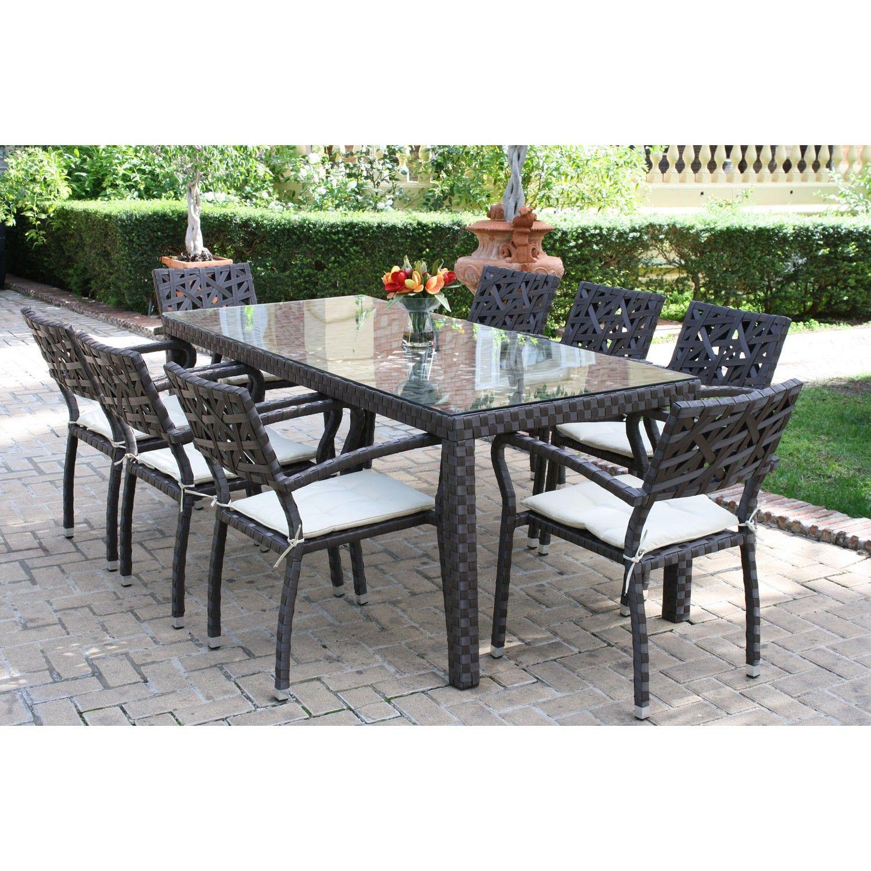 Mesa y sillas de jard n dely conjunto de mesa y 6 sillas for Conjunto mesas y sillas de jardin baratas