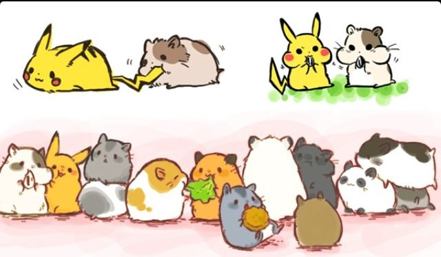 Pikachu and hamsters