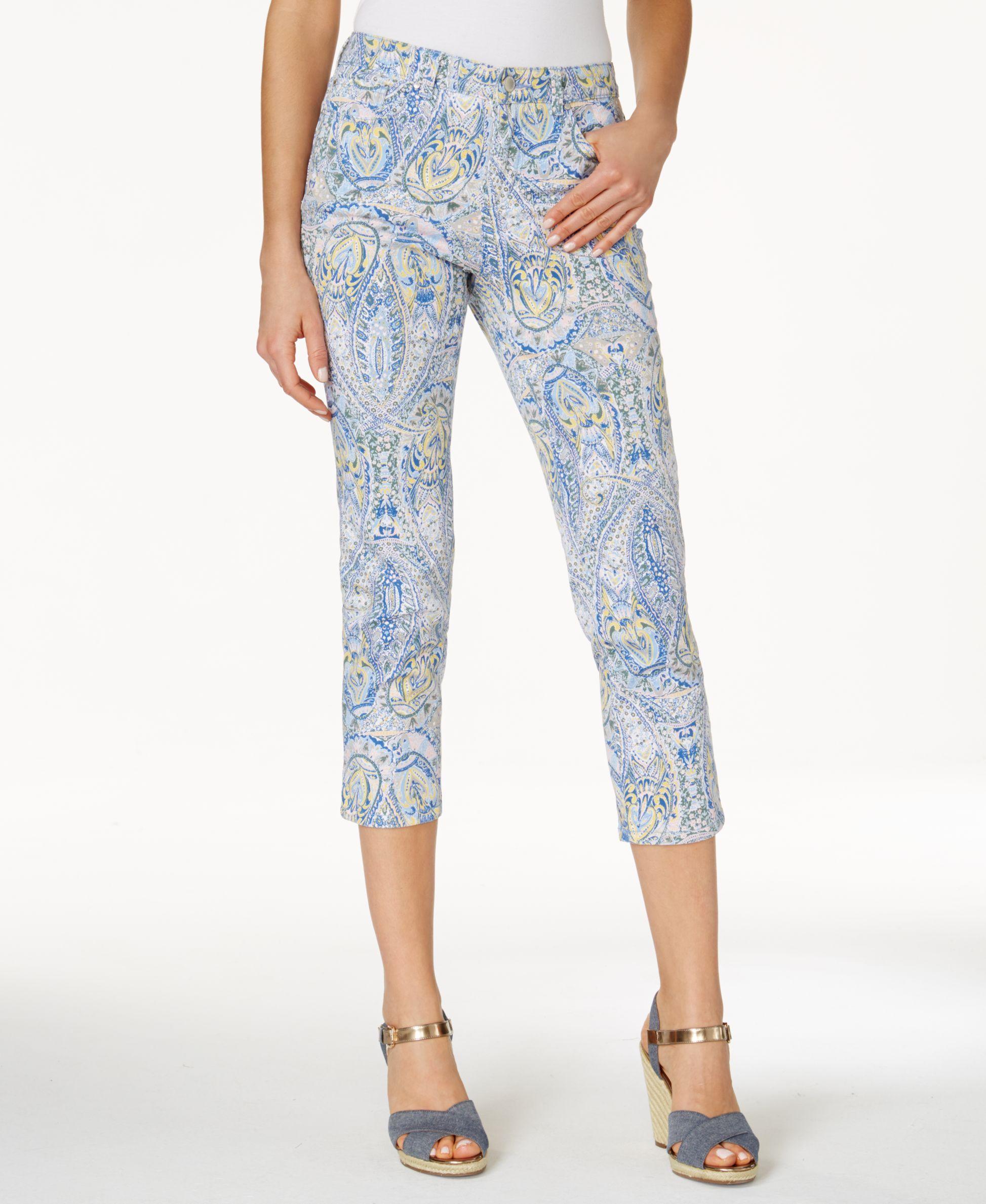 12e4be4fbf0 Charter Club Bristol Print Capri Jeans