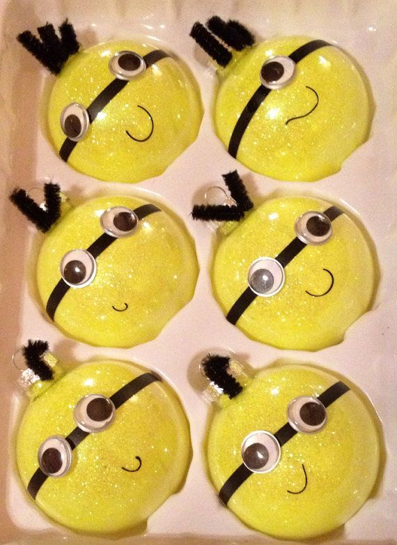 minion christmas ornaments my whole family loves despicable me one for each person