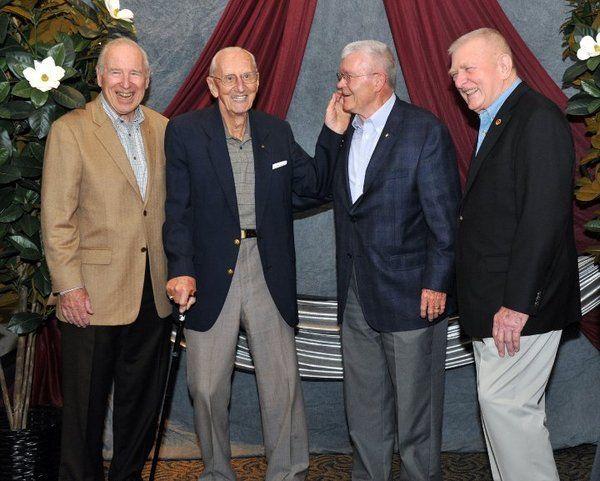 Apollo 13 crew survivors and mission control staff today