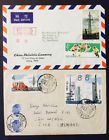 2 China S67S68 and S72 stamp cover 19661967