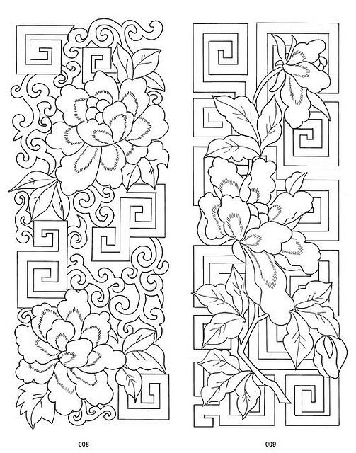 Traditional Chinese Embroidery Designs 3 | Bordado, Repujado y Dibujo