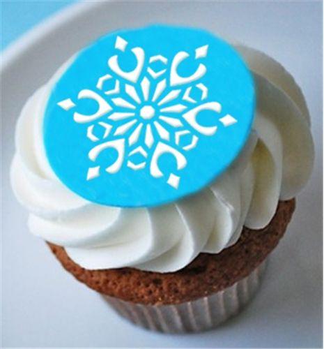 Mini Snowflake Cupcake Topper