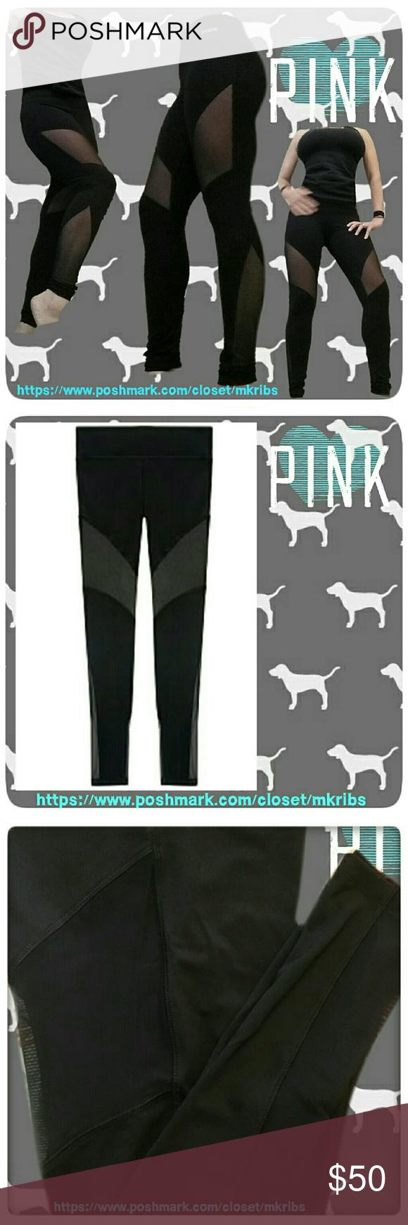 40566802d75c06 VS PINK ultimate legging sheer mesh panels Victoria's Secret 'Ultimate'  high waist full