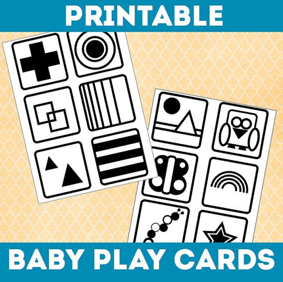 Printable Baby Play Cards Black White High Contrast Sensory Play Developmental Learning Toy Baby Play Activity Tummy Time Toy