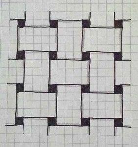 Zentangle Anleitung gegen Stress - einfache Zentangle Muster #paperpatterns