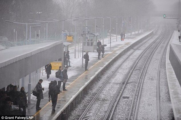 Bromley South Train Station Kent England In Snow