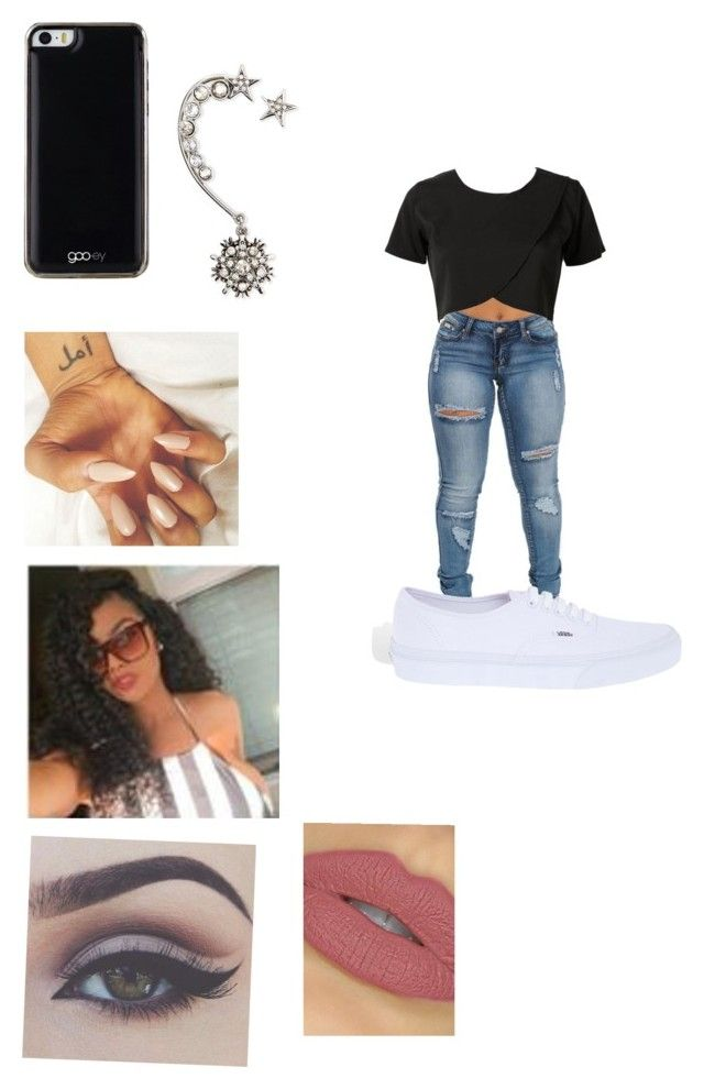 """""""Set #61"""" by curly-kalia ❤ liked on Polyvore featuring Gooey, Oscar de la Renta, Vans, women's clothing, women's fashion, women, female, woman, misses and juniors"""
