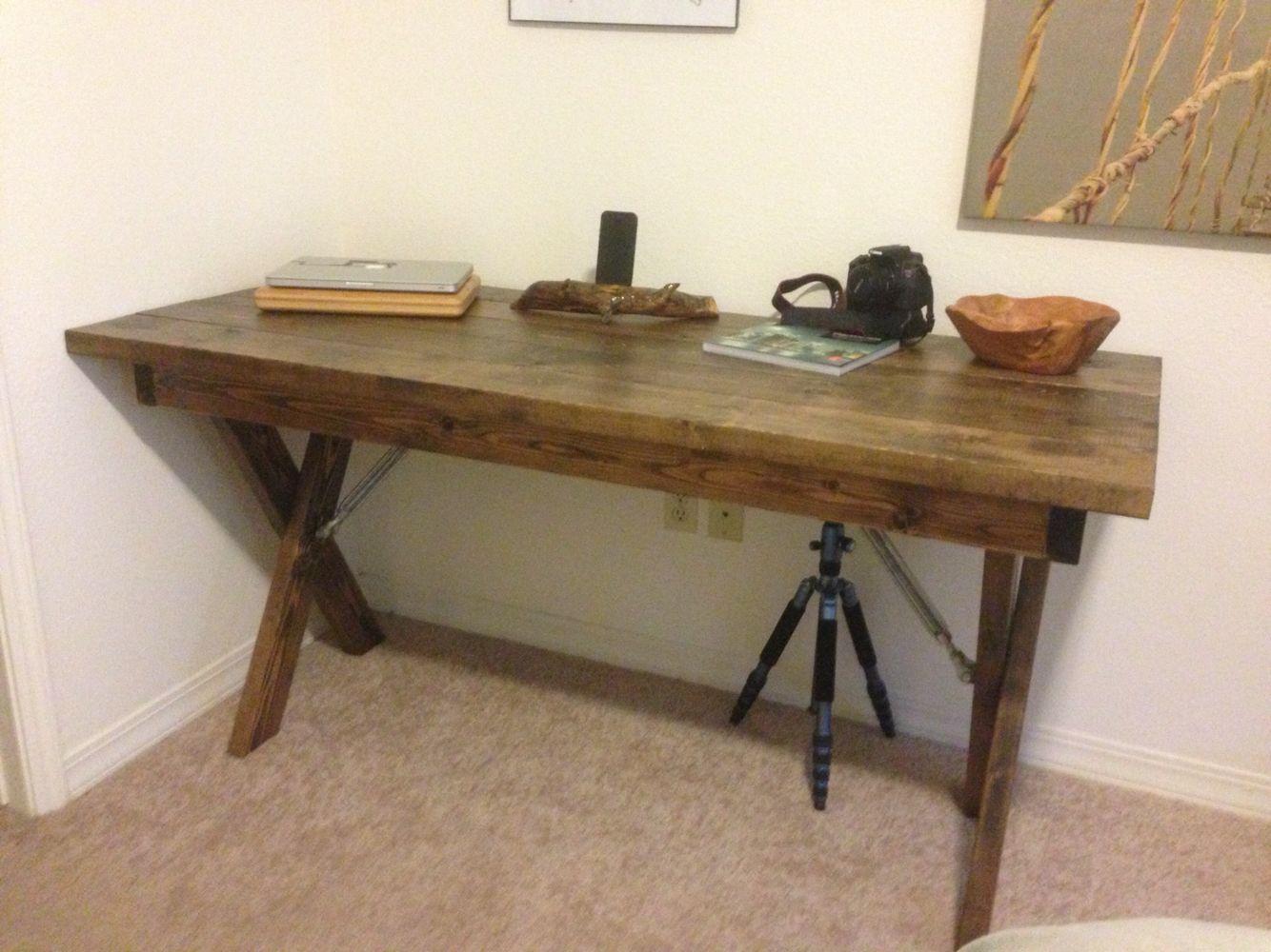 2x6 And 2x4 Desk Diy Corner Desk Home Remodeling Home Decor