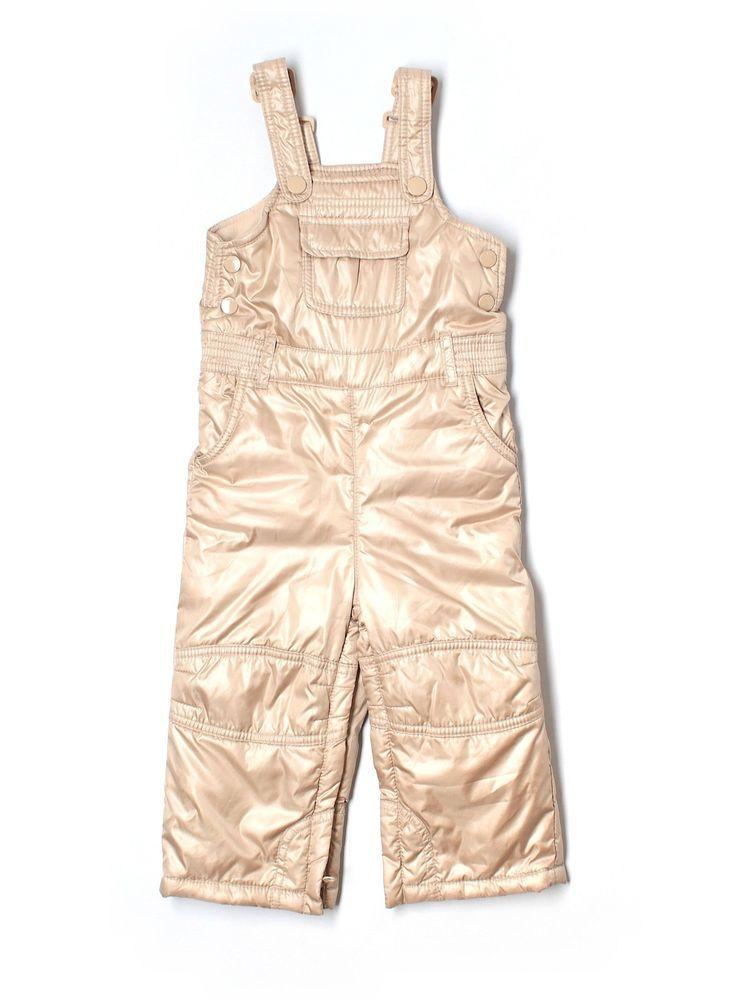 54361d4e58f Toddler Girl Baby Gap Gold Winter Snow Bibs Ski Pants Size 18 24 Months   BabyGap  Pants  Everyday