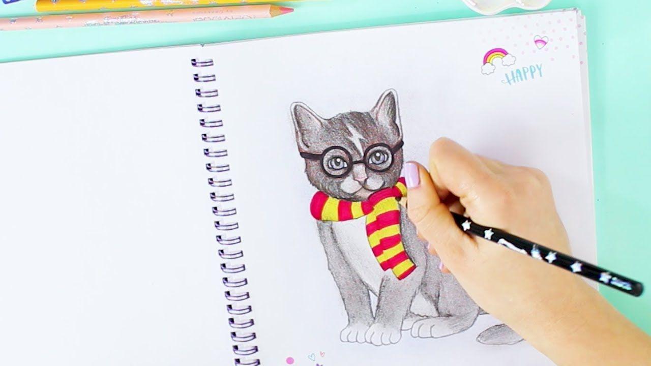 How To Draw A Cat Katze Im Harry Potter Style Malen Topmodel
