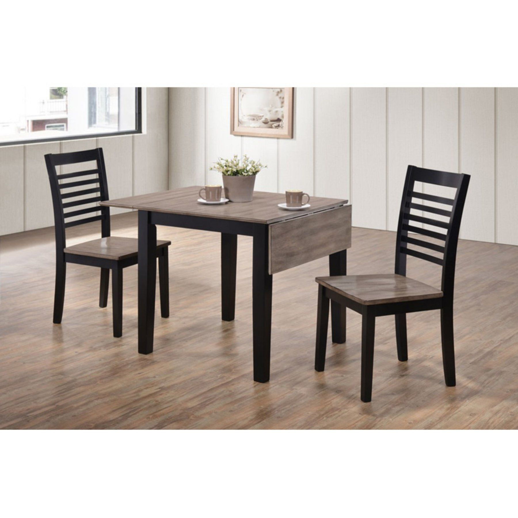 Outstanding United Furniture Hampton 3 Piece Drop Leaf Set A Ebony And Ncnpc Chair Design For Home Ncnpcorg