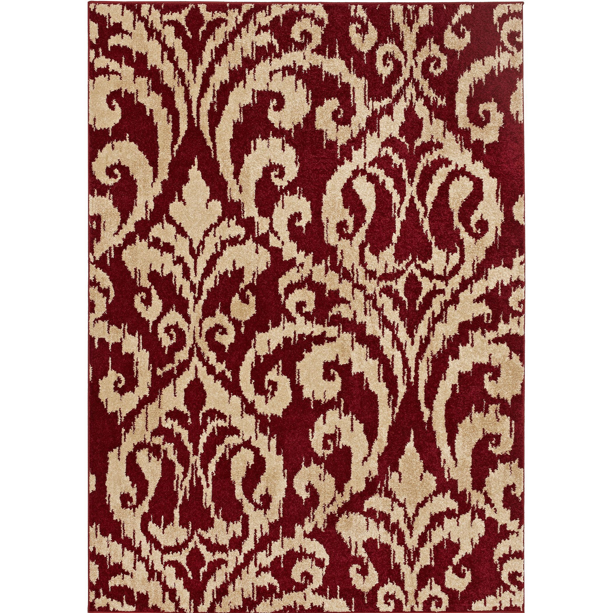 Loft Arrie Damask Design Garnet Red