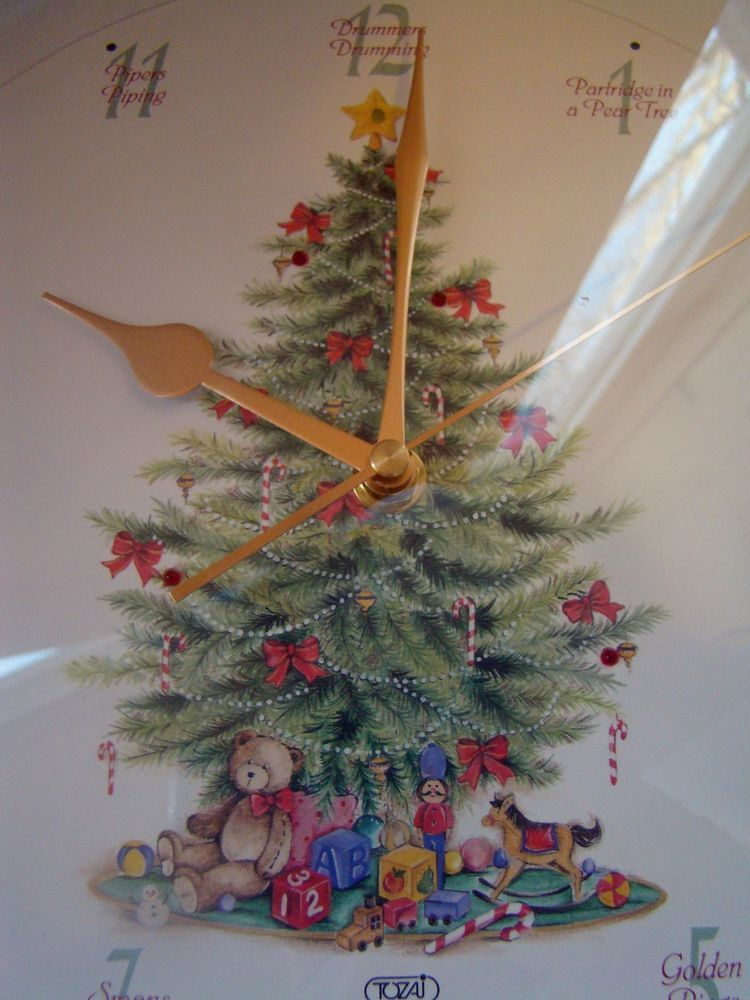 Tozai Christmas Musical Clock 12 Days Of Christmas Tested Works See Video Christmas Musical 12 Days Of Christmas Winter Wall Decor