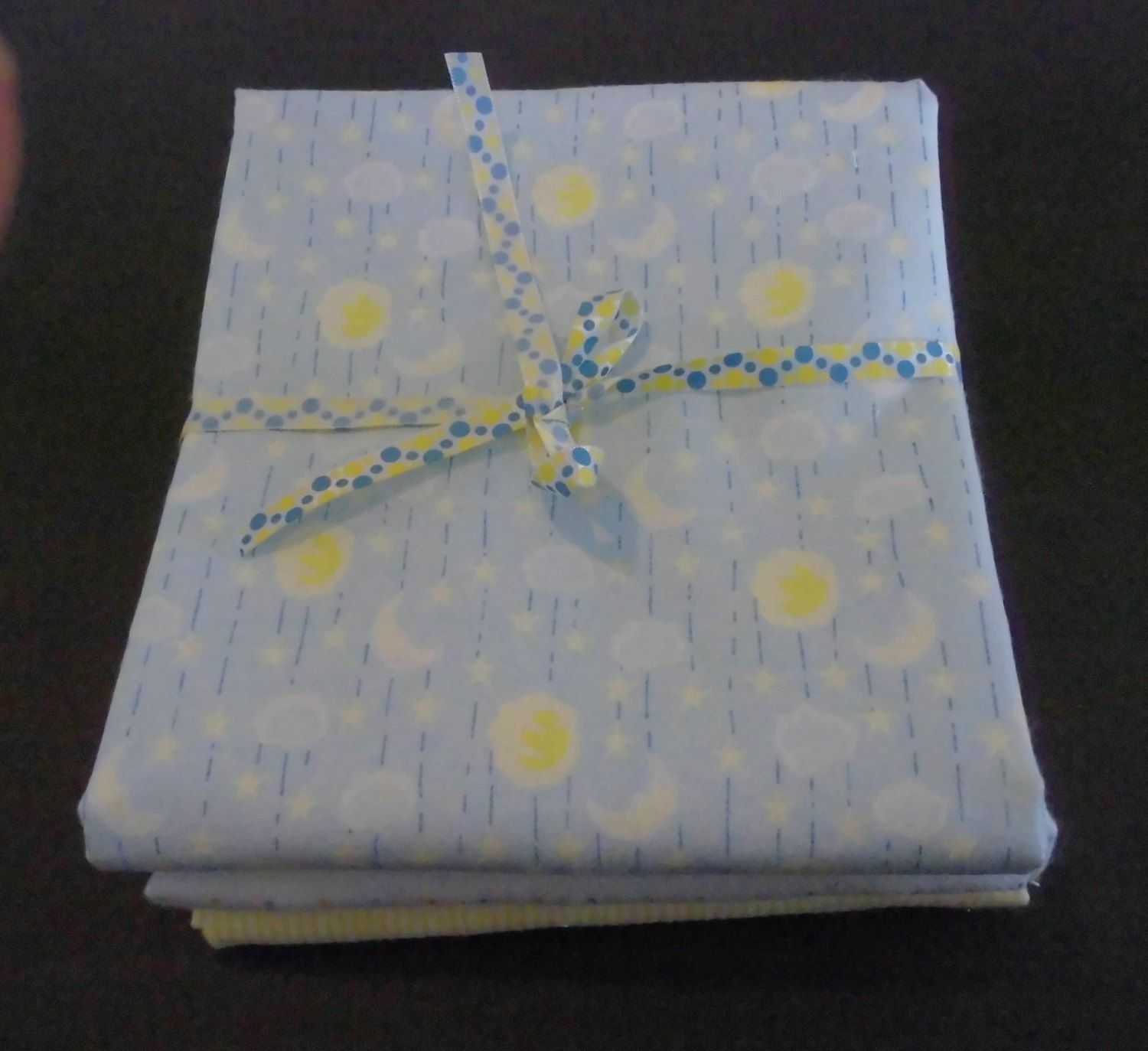 Flannel Fabric Bundle Of 3 Yards Moon And Stars Dots Save With