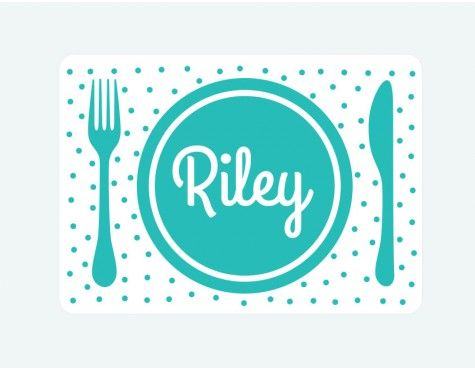 personalised dinner time placemat