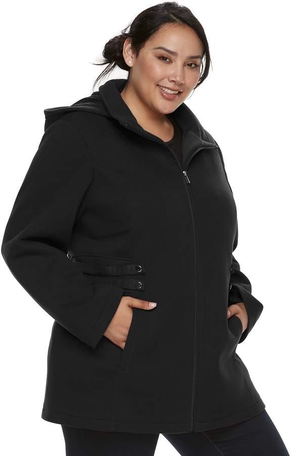 04efc735ccb Details Plus Size Hooded Fleece Midweight Jacket