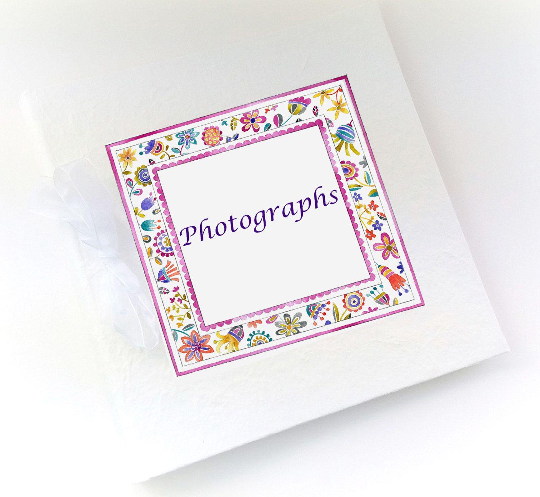 Baby Photo AlbumBaby Girl GiftPersonalised GiftBaby Album1st Birthday GiftChristening Gift Peony By TigerlilyprintsLtd On Etsy