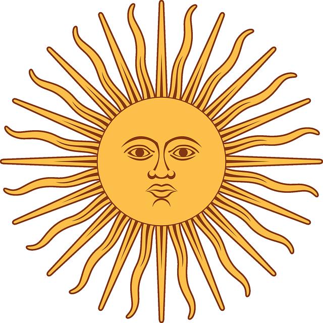 Argentine Spanish Verbs Commonly Heard In Argentina Argentina Flag Sun Art Public Domain Clip Art
