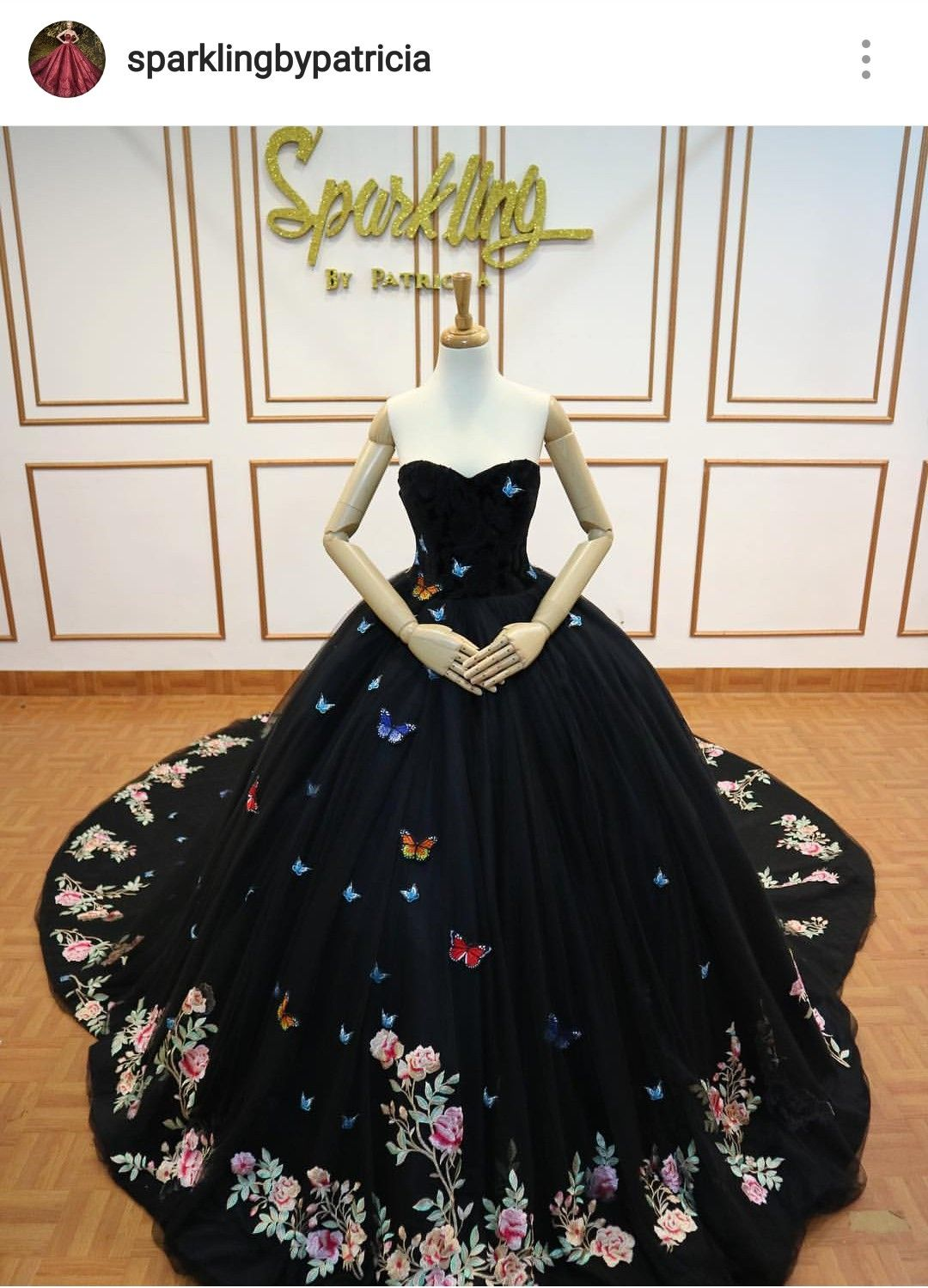 Black Butterfly Gown Pretty Quinceanera Dresses Quince Dresses Gowns [ 1499 x 1080 Pixel ]
