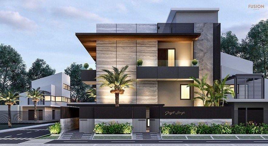 47 Inspiring Modern House Design Ideas 2019 35 Fieltro Net Facade House Duplex House Design House Designs Exterior