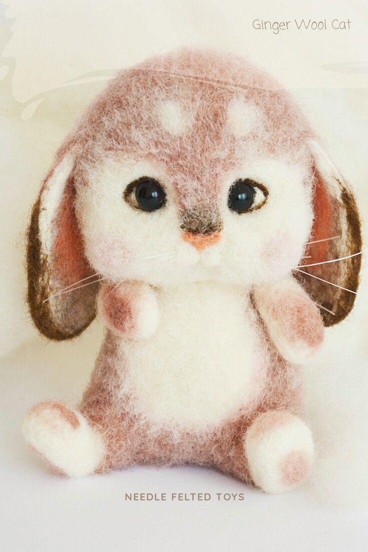 Bunny #needlefeltedbunny