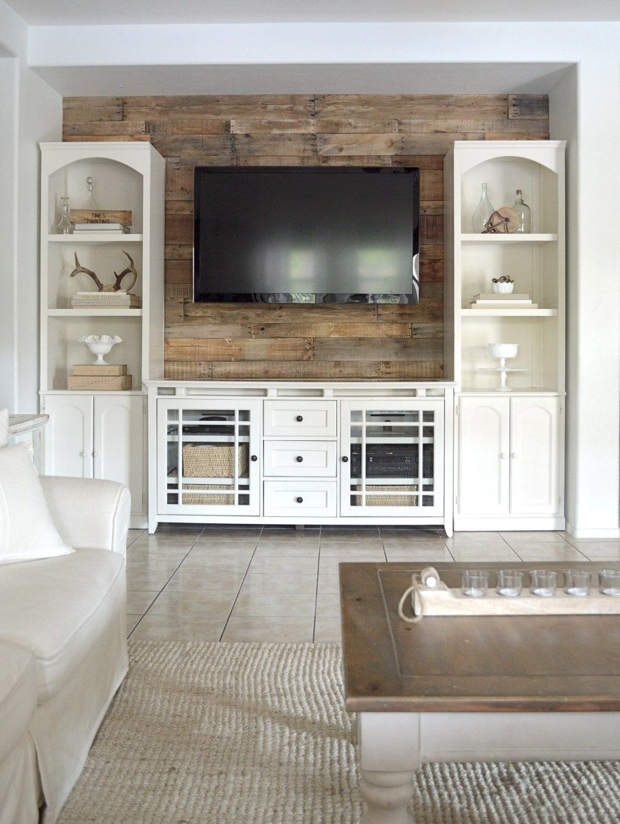 Wood Wall Behind Tv Oh Sweet Weathered Pallet Wood Wall D I Y Rustic Wood Walls
